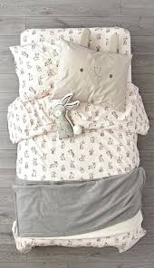 bunny bedding its time to hop on an organic bunny bedding set like no other the light pink duvet cover and sheet set are adorned with bunny baby crib