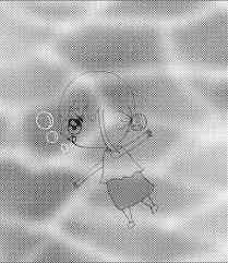 海の中を泳ぐ女の子 イラストコンテスト ちびキャラをテーマに