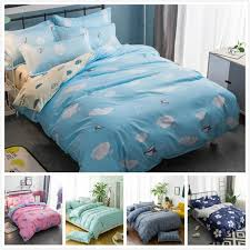 3 pcs 100 cotton erfly bedding set