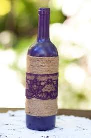 How To Decorate A Wine Bottle With Ribbon SET100 Decorated Wine Bottle Centerpiece Vintage Ivory Tan 2