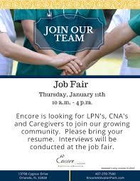 Job Opportunities Encore At Avalon Park Encore At Avalon Park