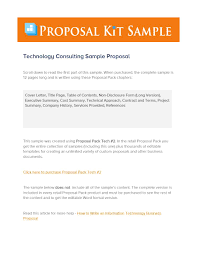 39 Best Consulting Proposal Templates [Free] - Template Lab