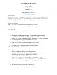 Free Resume Templates Word Template Samples Microsoft With