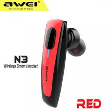 Bluetooth - <b>гарнитура AWEI N3</b> mono hand free Red ...