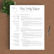 teacher resume template the emily