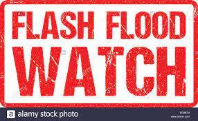 Flash Flood Watch, Warnschild Rote ...