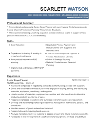 Senior Buyer Resume Fascinating Best Purchasing Supply Chain Manager Resumes ResumeHelp