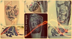 фото тату носорог примеры готовых татуировок значение и эскизы