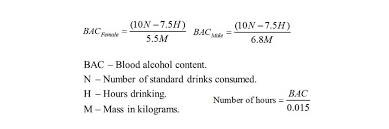 Blood Alcohol Chart By Weight Blood Alcohol Concentration Bac Blood Alcohol Levels
