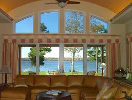 living room window treatments for large windows. side panels for the large window living room treatments windows n