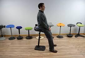 standing desk chair. Plain Chair Perched Position On VARIchair Inside Standing Desk Chair V