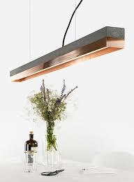 gantlights gantlights hanging lamp c1 pendant light with dark grey concrete