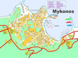 mykonos town tourist map