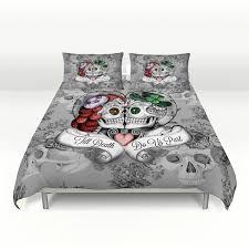 sugar skull comforter set or duvet cover