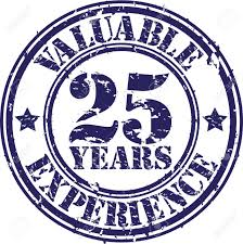 valuable years of experience rubber stamp vector illustration valuable 25 years of experience rubber stamp vector illustration stock vector 26109350