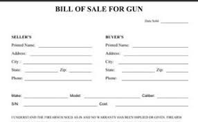 Gun Bill Of Sale Printable - Worksheet & Coloring Pages