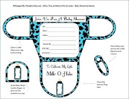shower invitation templates new baby shower invitation templates awesome boy diaper