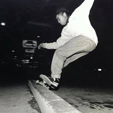 The fist black skateboarder