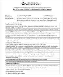 Clinical Assistant Jobs Medical Administrative Assistant Job Description Sample 7