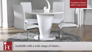 furniture choice. paris white high gloss round dining room table from furniture choice - youtube