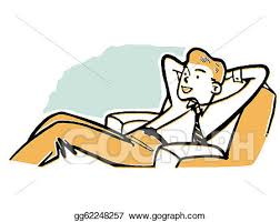 lounge chair clipart. stock illustration - a businessman relaxing in lounge chair. clipart gg62248257 chair