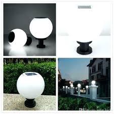 outdoor globe lights solar garden light diameter pillar sensor lamps with globes large g colour changing solar garden lights globe