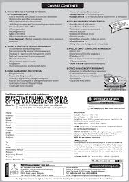 types of management skills effective filing record office management skills training