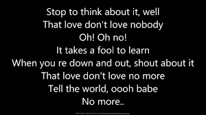 - Youtube Lyrics- lyrics Nobody Love Don't Clapton Eric