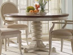 furniture sunset point sea oat with hattears white 54 wide round pedestal dining