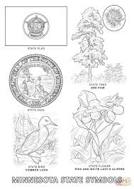 Small Picture Minnesota State Symbols coloring page Free Printable Coloring Pages