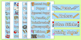 Labels With Border Classroom Equipment Square Border Tray Labels Labels Tray
