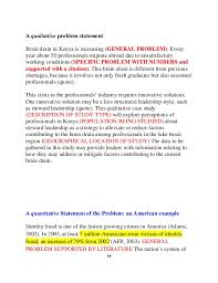 Research Problem Statement How To Write A Statement Problem