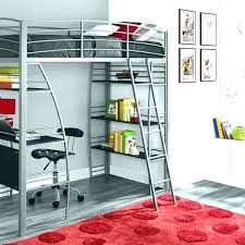 junior metal loft bed junior metal loft bed studio silver twin with integrated desk and shelves