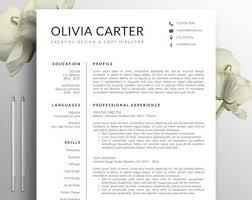 Modern Resume Style Esty Modern Resume Etsy