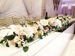 bridal table silk flower runner
