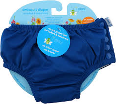 I Play Inc Swimsuit Diaper Reusable Absorbent 24 Months Royal Blue 1 Diaper