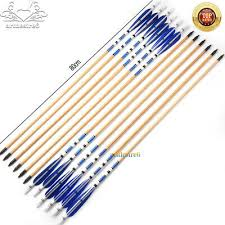 """6PCS 31""""Blue Traditional Wooden <b>Arrows</b> With Turkeys Feather For ..."""