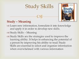 study skills ppt jose study