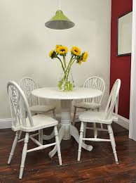 Small Round Table Chair Set Painted In Old White My Favorites