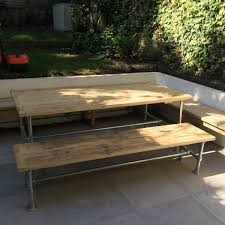 outdoor dining patio tables benches