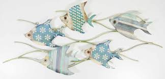 sumptuous design ideas fish wall decor designing home art captivating metal tropical for bathroom nursery canada uk