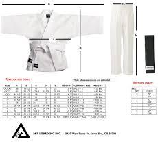 Uniform Size Chart Mti Trading Inc