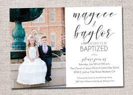 Twin Baptism Invitations Twin Lds Baptism Invitation Baptism Invite Boy Girl Baptism