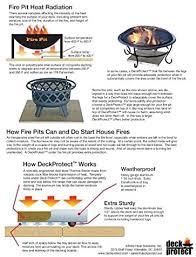Amazon Com Deckprotect 36 X36 Fire Pit Insulation Black Garden Outdoor