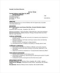 Registered Dietitian Resume Adorable Dietitian Resume Template 48 Free Word PDF Documents Download
