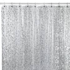 clear shower curtain with design. pebbles shower curtain in clear with design