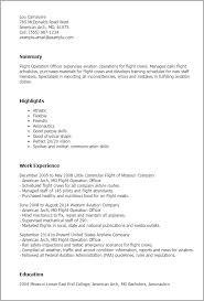 Resume Templates: Flight Operation Officer