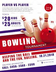 Bowling Event Flyer This Is Bowling Tournament Flyer Design Template In Psd Word