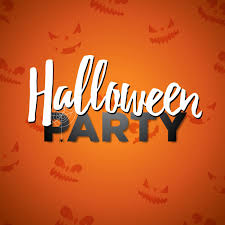 halloween party vector illustration calligraphy writing on  halloween party vector illustration calligraphy writing on orange background holiday design abstract scary
