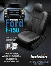 aftermarket leather seats ford f 150 katzkin ford f150 outlaw s